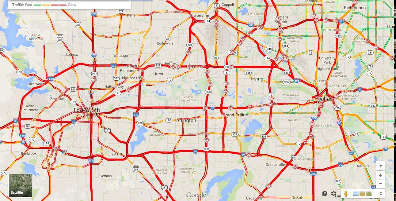 Dallas Tráfico Mapa Plano De Dallas Tráfico Texas USA - Mapa de texas usa
